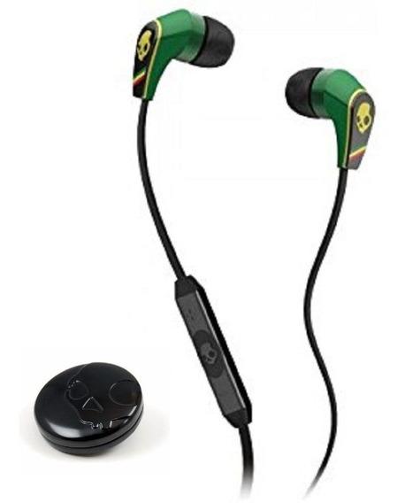 Fone Skullcandy Com Microfone Controle Volume Rasta Jamaica