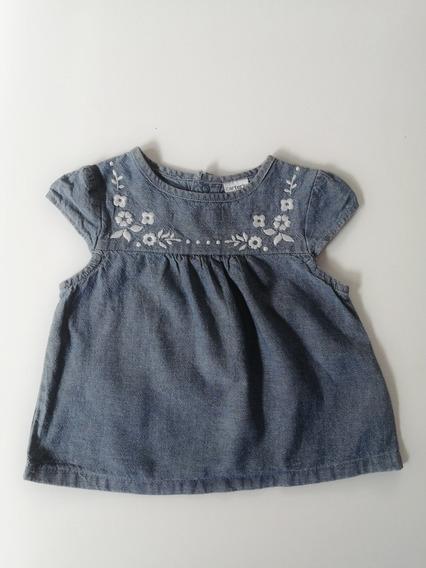 Blusa Mezclilla Para Bebé 6 Meses Carters 1136