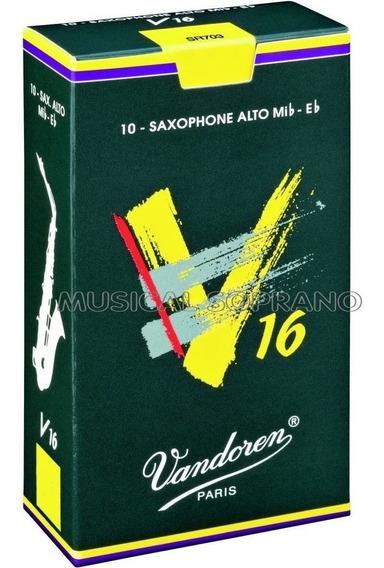 Palhetas Vandoren V16 Para Sax Alto (caixa Com 10) - Nº 2