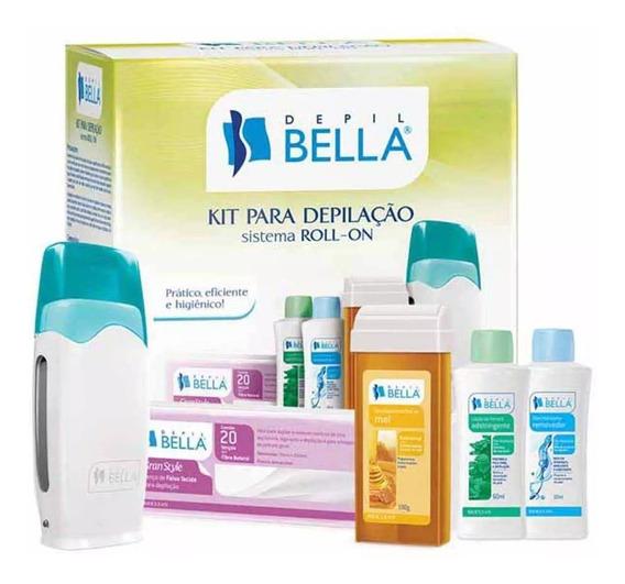 Kit Depilação Cera Sistema Roll-on Depil Bella 110 / 220