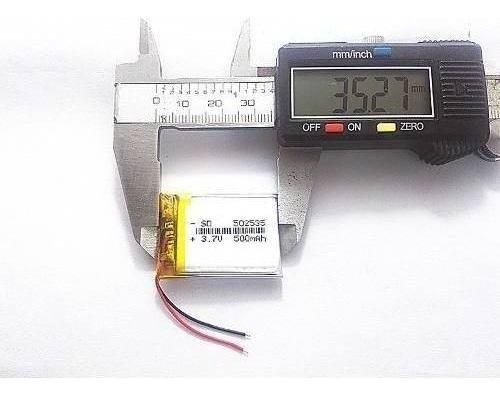 Bateria 3,7v   500 Mah Para Relogio Chama Garçom