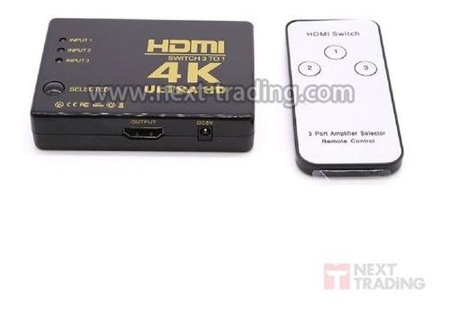Chaveador/switch  Hdmi 3ex1s Hdtv1.3b, 1.4 Autom/contr Remot