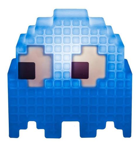 Luminaria De Mesa Criativa 3d Pac Man Fantasma Azul Inky
