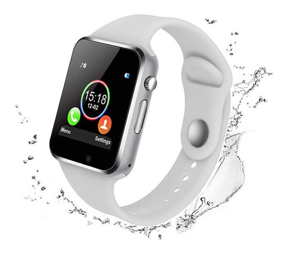 Bluetooth Gsm Reloj Inteligente Blanco