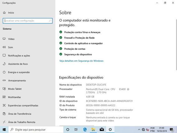 Desktop Completo - Gabinete,monitor,mouse,teclado,caixadesom