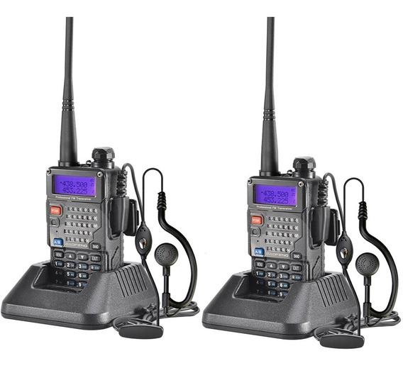 Set Handy Profesional Baofeng Recargable Uv5re Handi Uhf Vhf