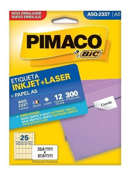 Etiqueta Pimaco Inkjet + Laser - A5q-2337 02193