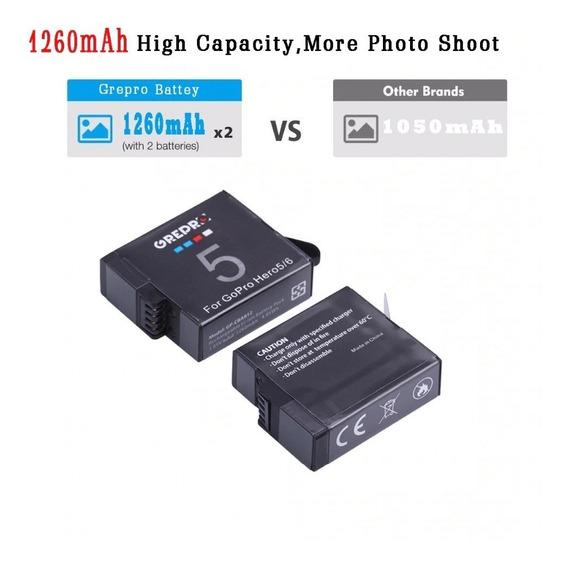 Carregador Dual+bateria P/ Gopro Hero 5/6/7 Black