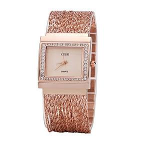 575b8e4b11cb Reloj De Pulsera De Mujer Con Cuentas Cuadrado De Cristal Pa