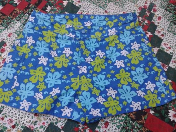 Shorts Dama Estampado Con Flores Para La Playa. Nuevo