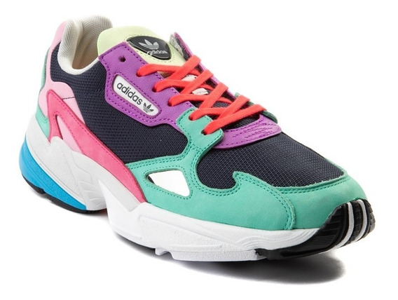 Tenis adidas Falcon Mod. 436773 Multicolor Para Mujer / H