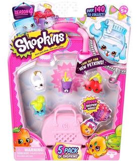 Shopkins Pack X 5 Original Con Accesorios Planeta Juguete