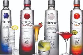 Vodka Ciroc Natural/redberry/peach/pineapple/vanilla 750ml