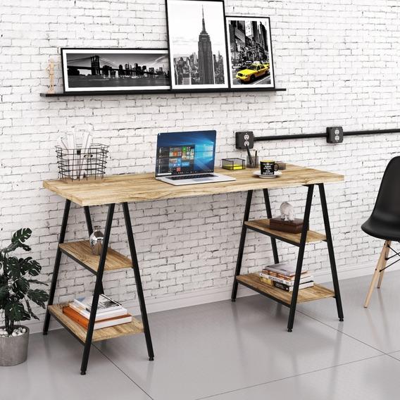 Escrivaninha De Escritório 1,50m Estilo Industrial Cavalete