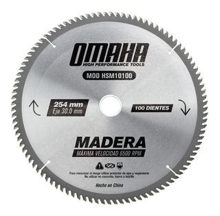 Hoja De Sierra P/ Madera 254 Mm Eje 30 Mm 100 D Omaha Stock