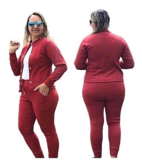 Conjunto Roupa Social Tamanho Plus Size Feminino De Blazer