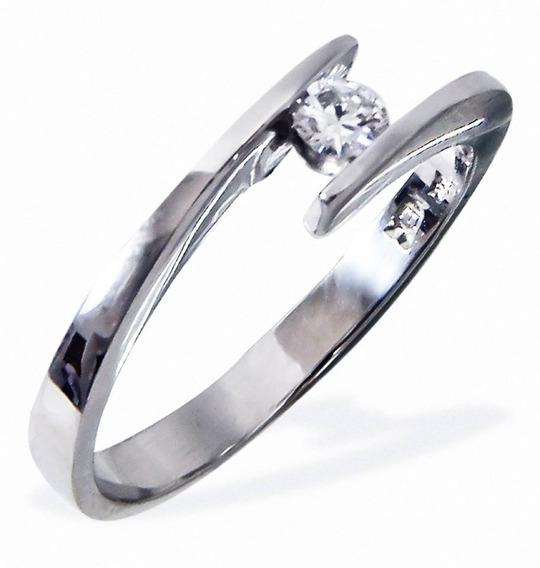 Anillo De Compromiso Dd8 Diamante Natural 10 Puntos Oro 14k