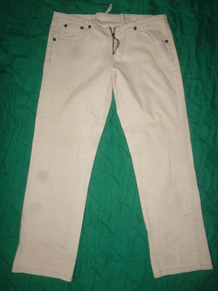 Pantalón 3 Cuartos- Damas- Crema- Talla 28- Calvin Klein