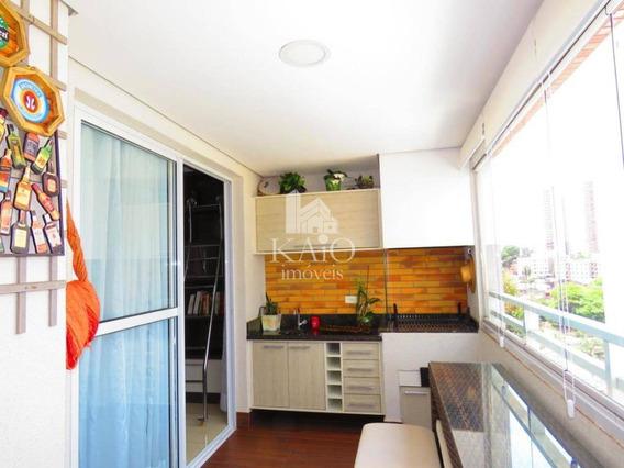 Apartamento Supremo 95m², Mobiliado,varanda Gourmet, 2 Vagas