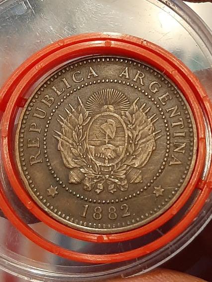 Argentina - 1 Centavo -año 1882- Cj#38 - Exc. (108.202 Acuñ)