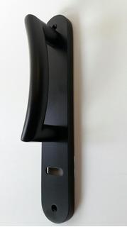 Casiopea Manijon Puerta Principal 250x45 Aluminio Negro Mate