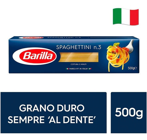 Fideos Italianos Pasta Barilla - Spaghettini 500g