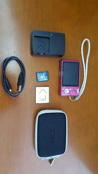 Sony W530 Pink + Carregador + Bateria + Cartão Memória.