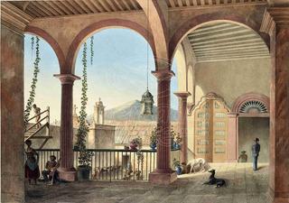 Lienzo Tela Arte Mexicano Vista Hacienda 1840 Daniel Egerton