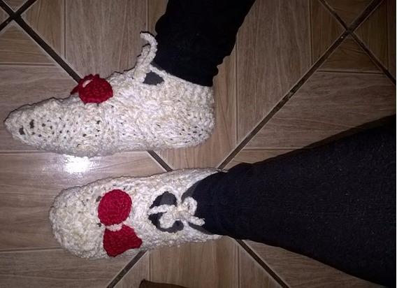 Lindos Sapato De Lan Aquecer No Inverno Pantufa