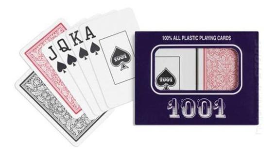 Jogo Baralho Copag 1001 Duplo Plástico 108 Cartas 1 Estojo.