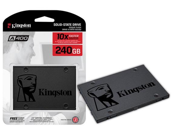 Ssd Sata Desktop Notebook Kingston A400 240gb 2.5 6gb/s