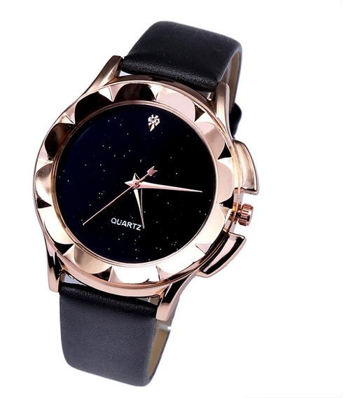 Reloj Casual Simple De Cuarzo Para Mujeres Niñas Negro