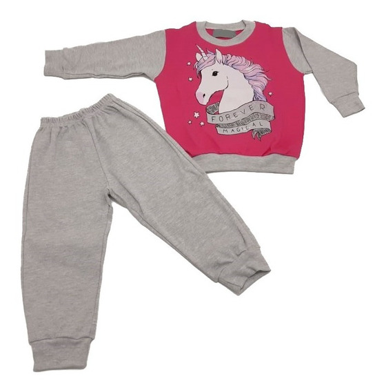 Pijama Nena Niña Unicornio Talles De 1 A 4 Años