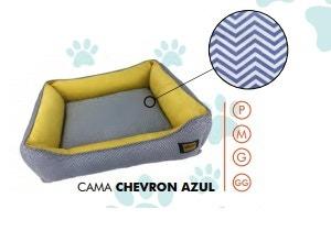 Cama Super Premium Chevron Azul M