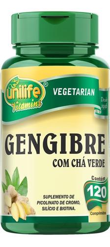 Gengibre Com Chá Verde 120 Capsulas 400mg Unilife