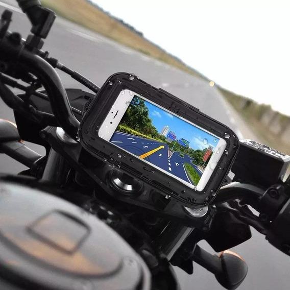 Suporte Resistente Água P/moto Celular Gps Até 6,3 Polegadas