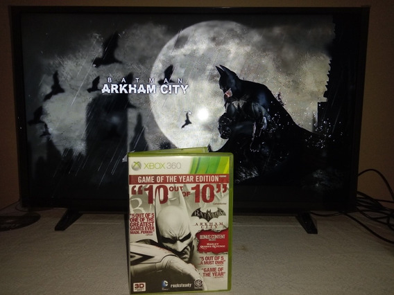 Batman Arkhan City Edicao Jogo Do Ano Xbox 360