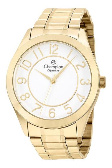 Relogio Feminino Champion Dourado Elegance Cn25127w