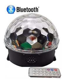 Bola Maluca Led Holográfica Bluetooth Caixa Som Festa 65158