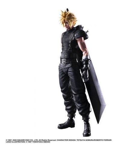 Imagen 1 de 6 de Cloud Strife Final Fantasy Vii Remake Play Arts Kai