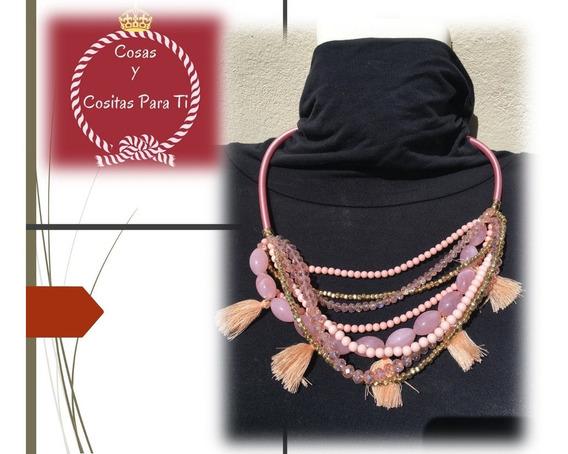 Oferta Mama Collar Bisuteria Tonos Rosa, Marca Bebe Original