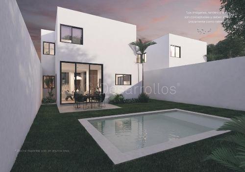 Casa En Venta,privada Alera, 3 Rec Y Piscina,dzitya,mérida,yucatan