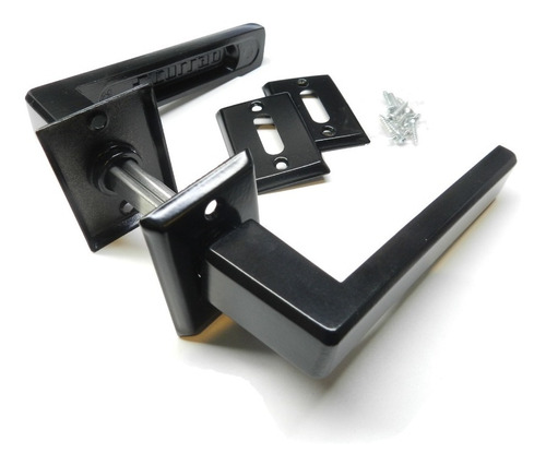 Imagen 1 de 4 de Manija Picaporte Currao Biselada Reforzada Negra Completa