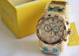 Relógio Invicta Pro Diver 0074 - Dourado 100% Original