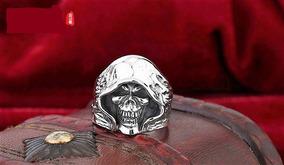Anel Skull - Ceifador - Prata Maciça 925 - Tamanho 26 Br