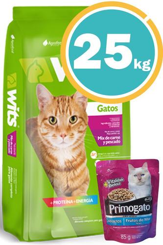 Alimento Wits Gato 25 Kg C/obsequio + Envío S/cargo*