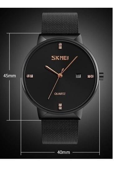 Promoção Relógio Masc Luxo Original Skmei 9164 Preto