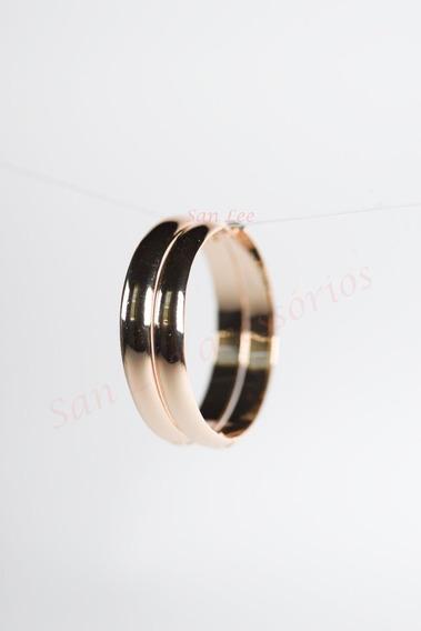 Brincos Argolas Dourados Semi Jóia 4mm Espessura Com Nf-e