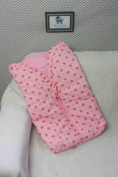 Saco De Dormir Com Zíper Cobertor Manta Bebê Algodão- Menino
