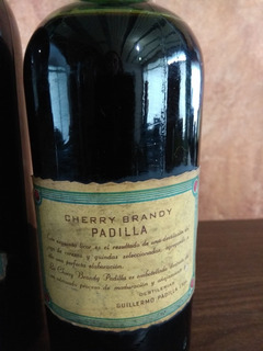 Antigua Botella Cherry Brandy Padilla, Tapón Plomo Cerrada